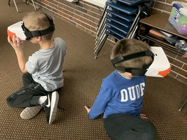 First Graders Experience Virtual Reality