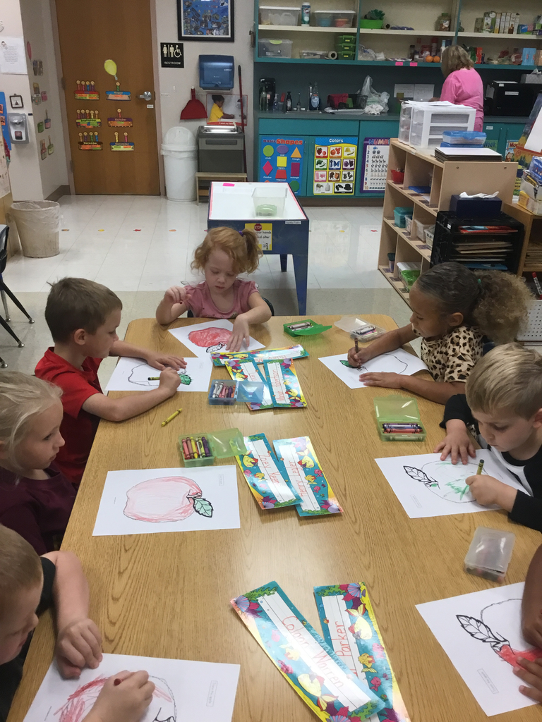 Preschool is working on tracing and holding a pencil with a pincher grip.